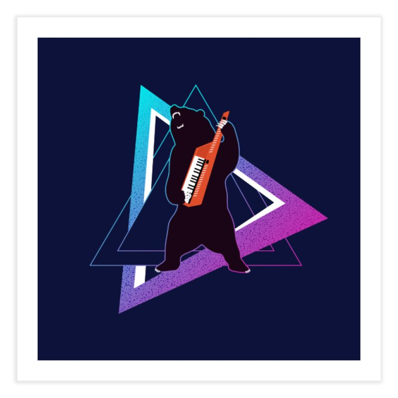 The Growling Keytarist (Grizzly Bear Music) Home Fine Art Print by 84collective