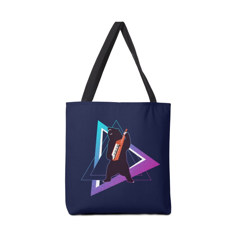 The Growling Keytarist (Grizzly Bear Music) Accessories Tote Bag Bag by 84collective