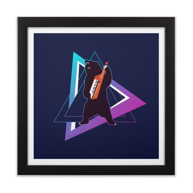 The Growling Keytarist (Grizzly Bear Music) Home Framed Fine Art Print by 84collective