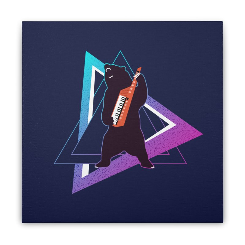 The Growling Keytarist (Grizzly Bear Music) Home Stretched Canvas by 84collective