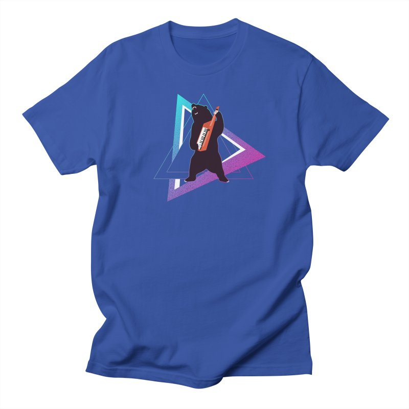 The Growling Keytarist (Grizzly Bear Music) in Men's Regular T-Shirt Royal Blue by 84collective