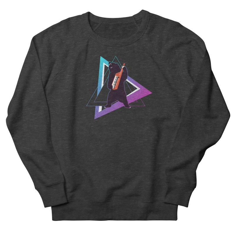 The Growling Keytarist (Grizzly Bear Music) Women's French Terry Sweatshirt by 84collective