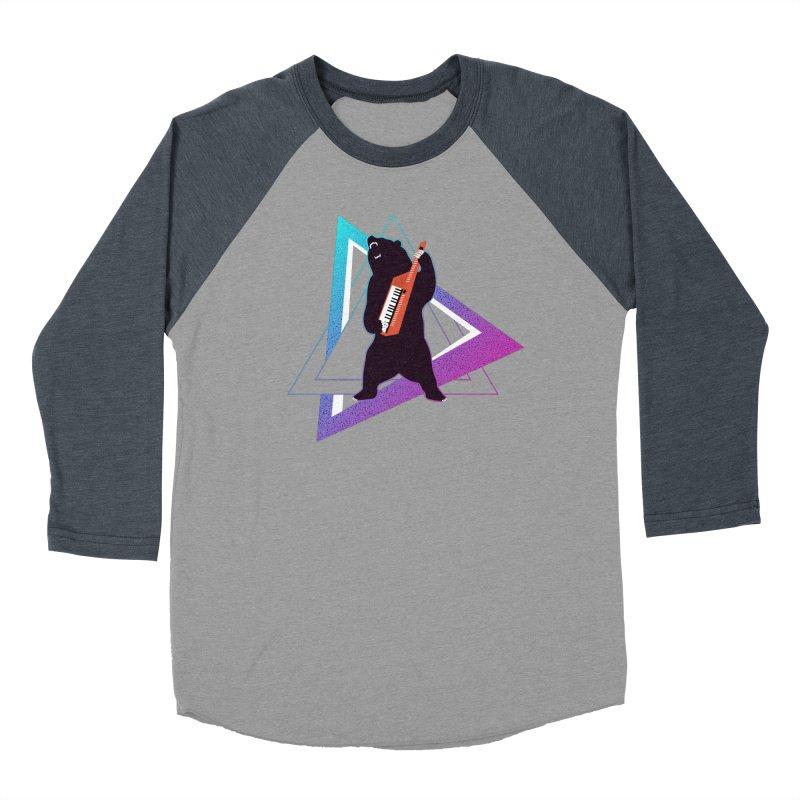 The Growling Keytarist (Grizzly Bear Music) Women's Baseball Triblend Longsleeve T-Shirt by 84collective