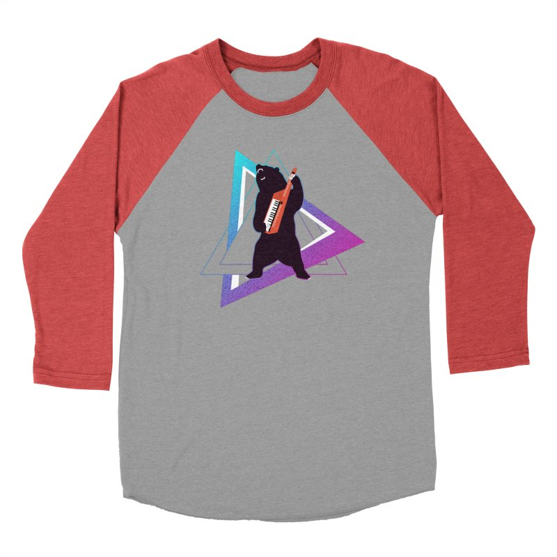 The Growling Keytarist (Grizzly Bear Music) Men's Baseball Triblend Longsleeve T-Shirt by 84collective
