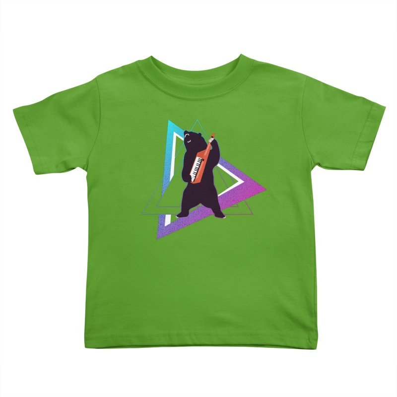 The Growling Keytarist (Grizzly Bear Music) Kids Toddler T-Shirt by 84collective