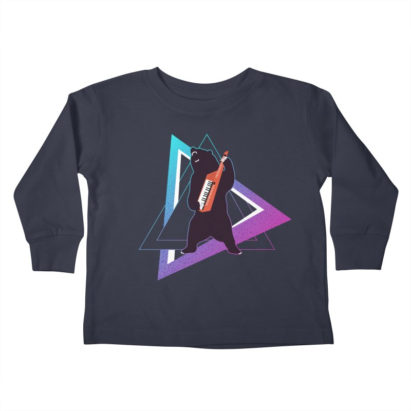 The Growling Keytarist (Grizzly Bear Music) Kids Toddler Longsleeve T-Shirt by 84collective
