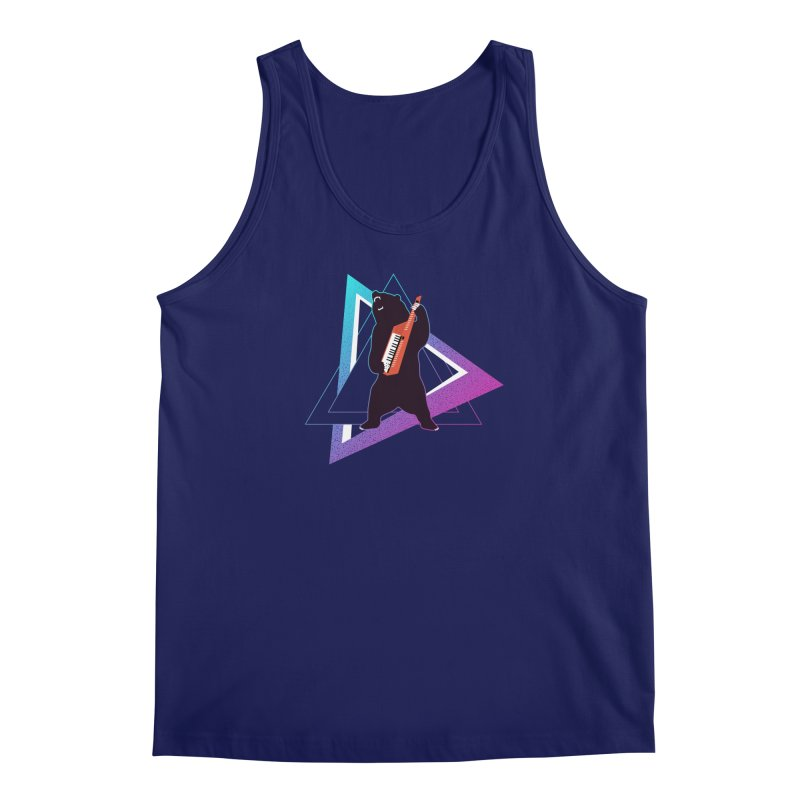 The Growling Keytarist (Grizzly Bear Music) Men's Regular Tank by 84collective