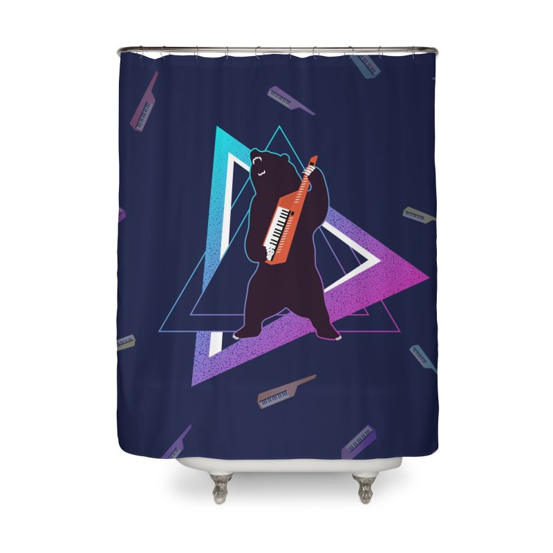 The Growling Keytarist (Grizzly Bear Music) Home Shower Curtain by 84collective