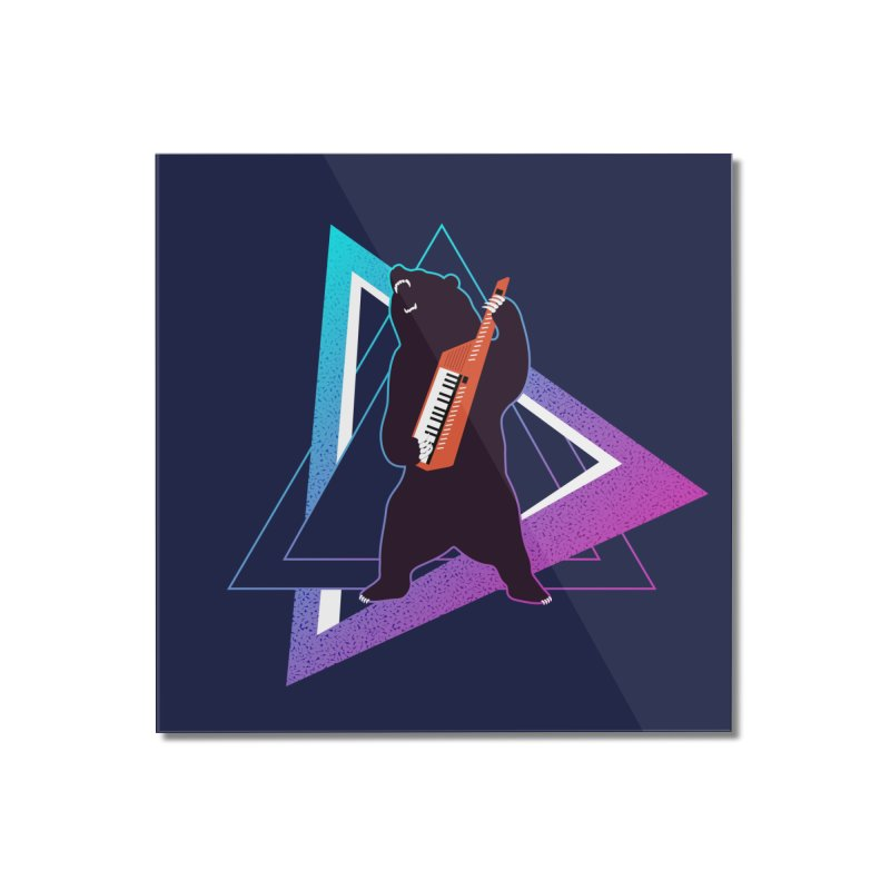 The Growling Keytarist (Grizzly Bear Music) Home Mounted Acrylic Print by 84collective