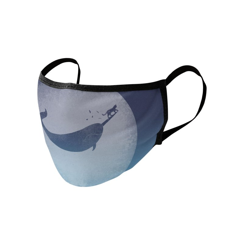 CaterNarwhal at the Moon Accessories Face Mask by 84collective