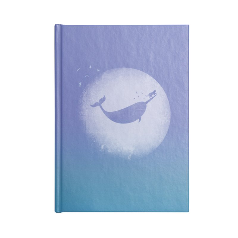 CaterNarwhal at the Moon Accessories Lined Journal Notebook by 84collective
