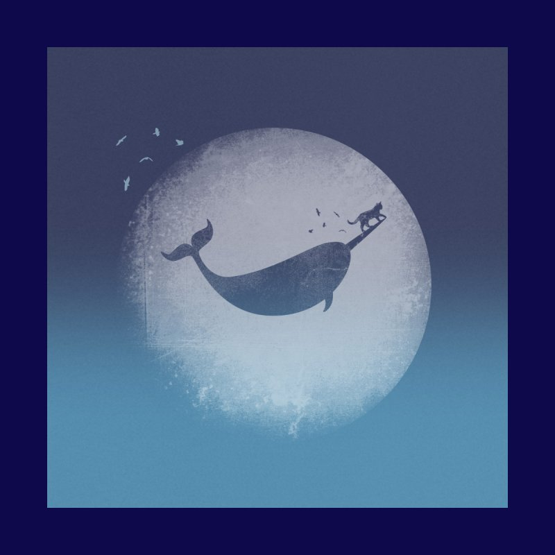 CaterNarwhal at the Moon Men's Longsleeve T-Shirt by 84collective