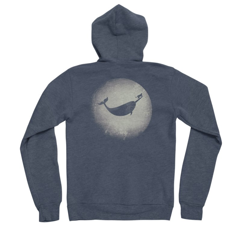 CaterNarwhal at the Moon Women's Sponge Fleece Zip-Up Hoody by 84collective