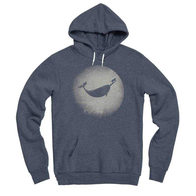 CaterNarwhal at the Moon Women's Sponge Fleece Pullover Hoody by 84collective