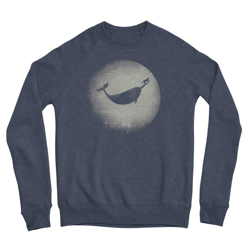 CaterNarwhal at the Moon Men's Sponge Fleece Sweatshirt by 84collective