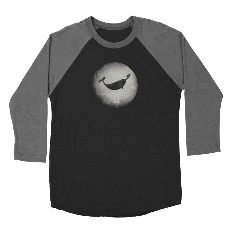 CaterNarwhal at the Moon Men's Baseball Triblend Longsleeve T-Shirt by 84collective