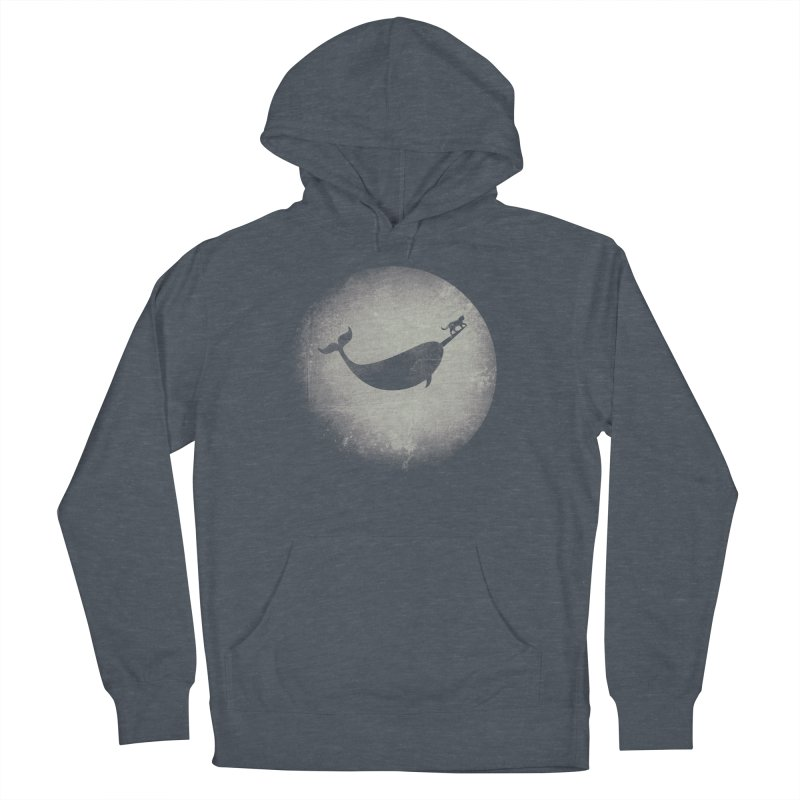 CaterNarwhal at the Moon Men's French Terry Pullover Hoody by 84collective