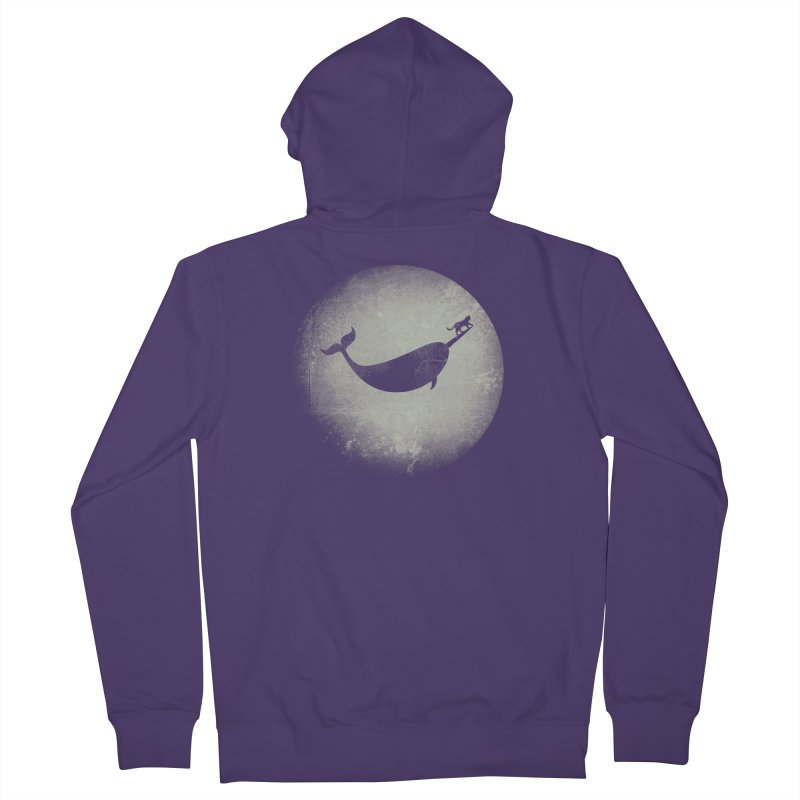 CaterNarwhal at the Moon Women's Zip-Up Hoody by 84collective