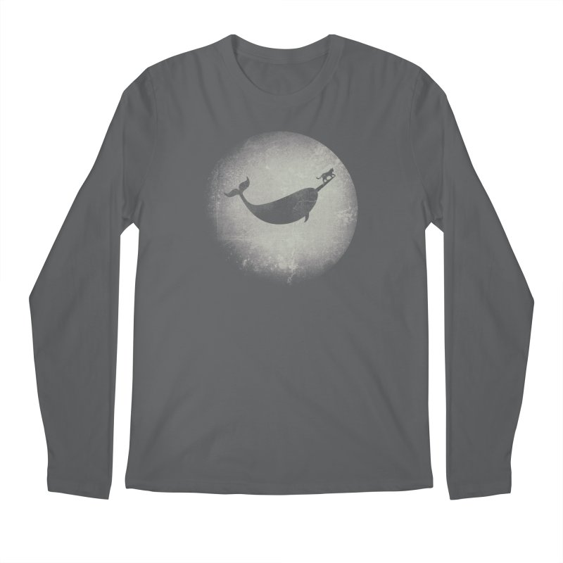CaterNarwhal at the Moon Men's Regular Longsleeve T-Shirt by 84collective