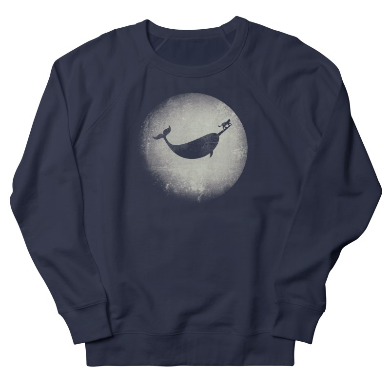 CaterNarwhal at the Moon Men's French Terry Sweatshirt by 84collective