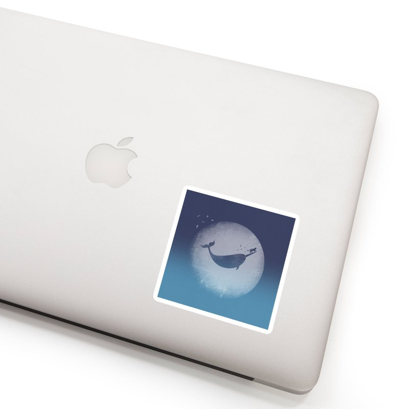 CaterNarwhal at the Moon Accessories Sticker by 84collective