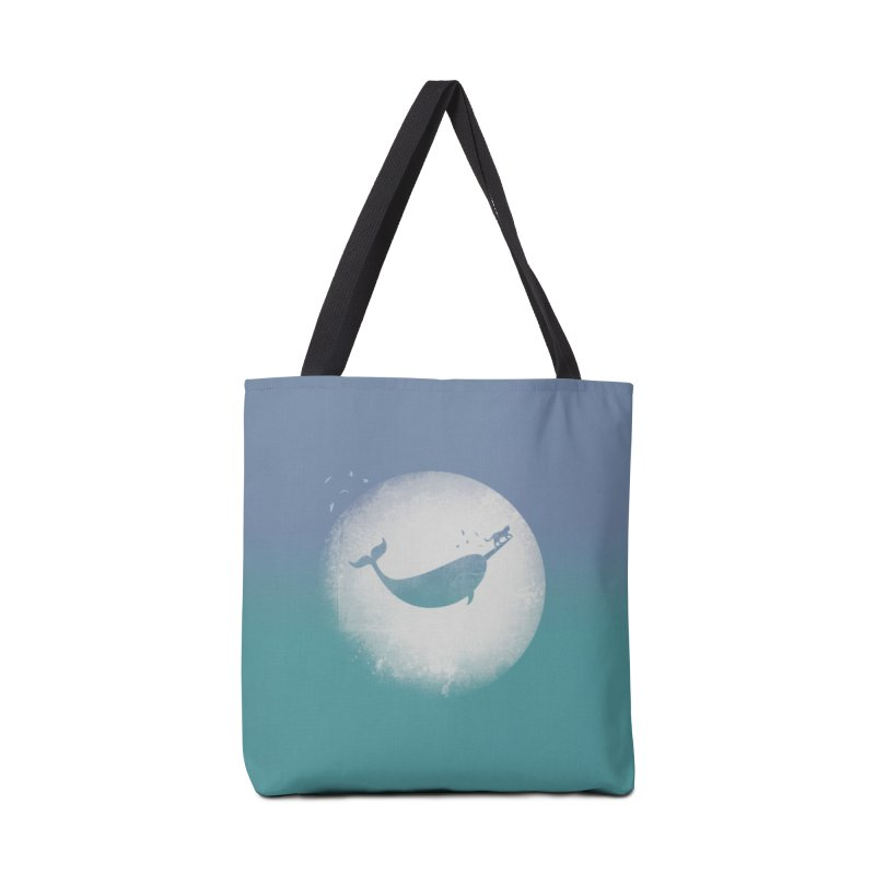 CaterNarwhal at the Moon Accessories Tote Bag Bag by 84collective
