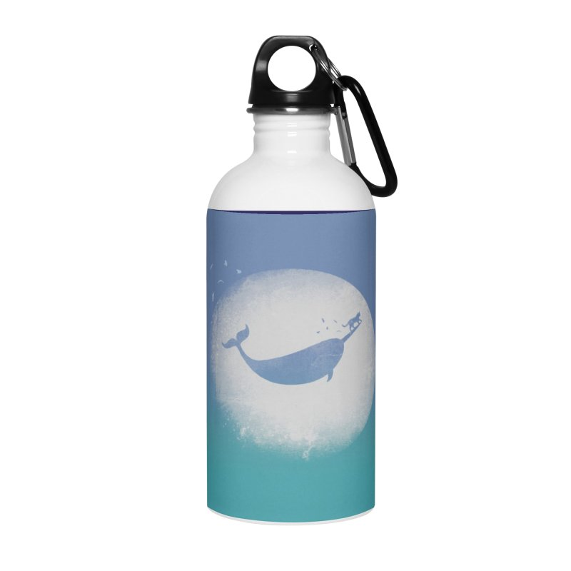 CaterNarwhal at the Moon Accessories Water Bottle by 84collective