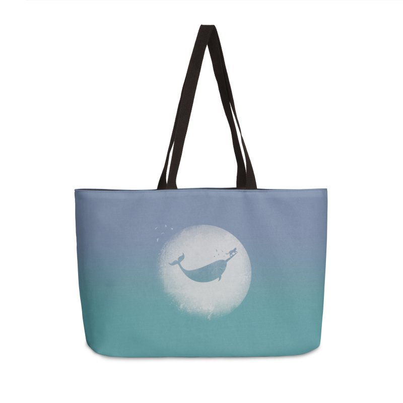 CaterNarwhal at the Moon Accessories Weekender Bag Bag by 84collective