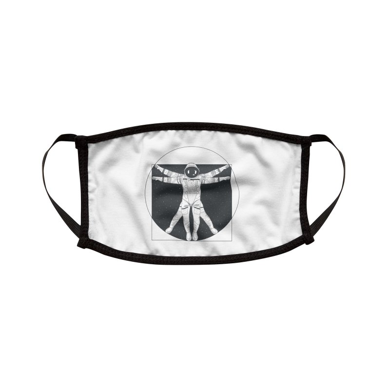 Vitruvian Spaceman (Dark Ink) Accessories Face Mask by 84collective