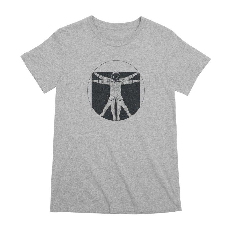 Vitruvian Spaceman (Dark Ink) Women's Premium T-Shirt by 84collective