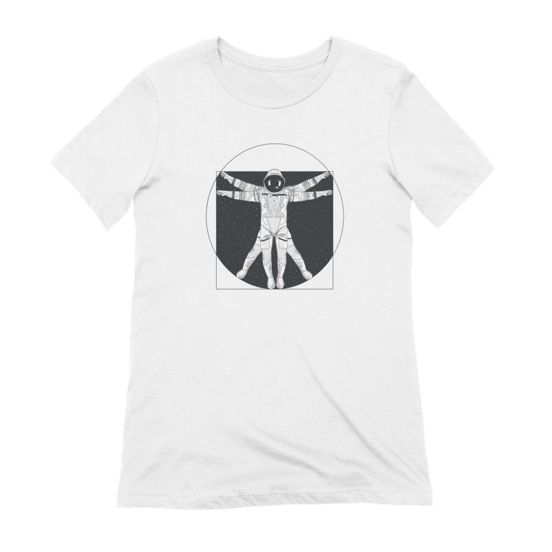 Vitruvian Spaceman (Dark Ink) Women's Extra Soft T-Shirt by 84collective