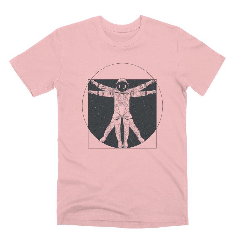 Vitruvian Spaceman (Dark Ink) Men's Premium T-Shirt by 84collective