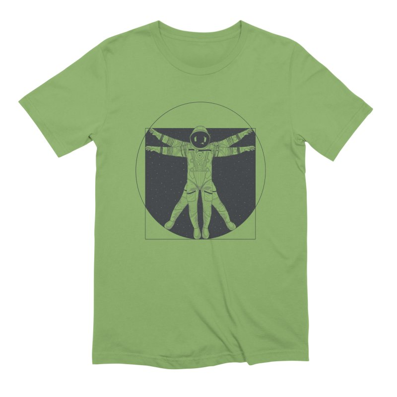 Vitruvian Spaceman (Dark Ink) Men's Extra Soft T-Shirt by 84collective