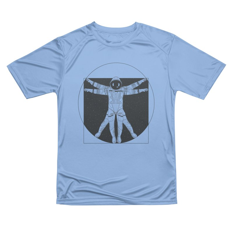 Vitruvian Spaceman (Dark Ink) Women's Performance Unisex T-Shirt by 84collective