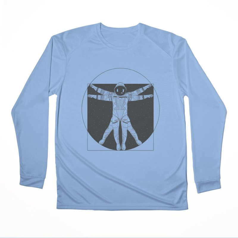 Vitruvian Spaceman (Dark Ink) Women's Longsleeve T-Shirt by 84collective