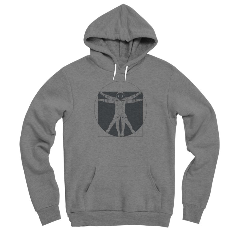 Vitruvian Spaceman (Dark Ink) Men's Sponge Fleece Pullover Hoody by 84collective
