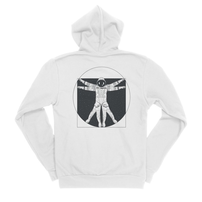 Vitruvian Spaceman (Dark Ink) Women's Sponge Fleece Zip-Up Hoody by 84collective