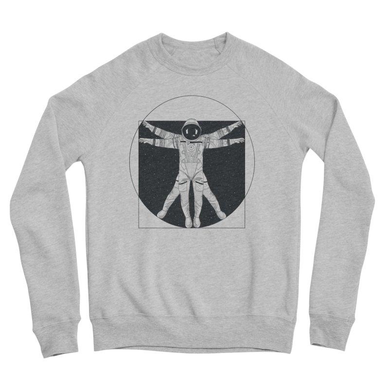 Vitruvian Spaceman (Dark Ink) Women's Sweatshirt by 84collective