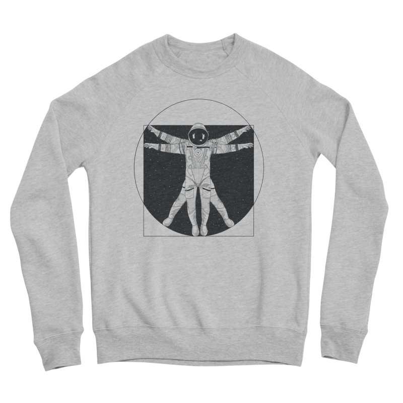 Vitruvian Spaceman (Dark Ink) Men's Sponge Fleece Sweatshirt by 84collective