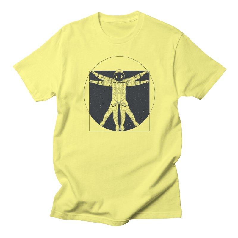 Vitruvian Spaceman (Dark Ink) Men's T-Shirt by 84collective