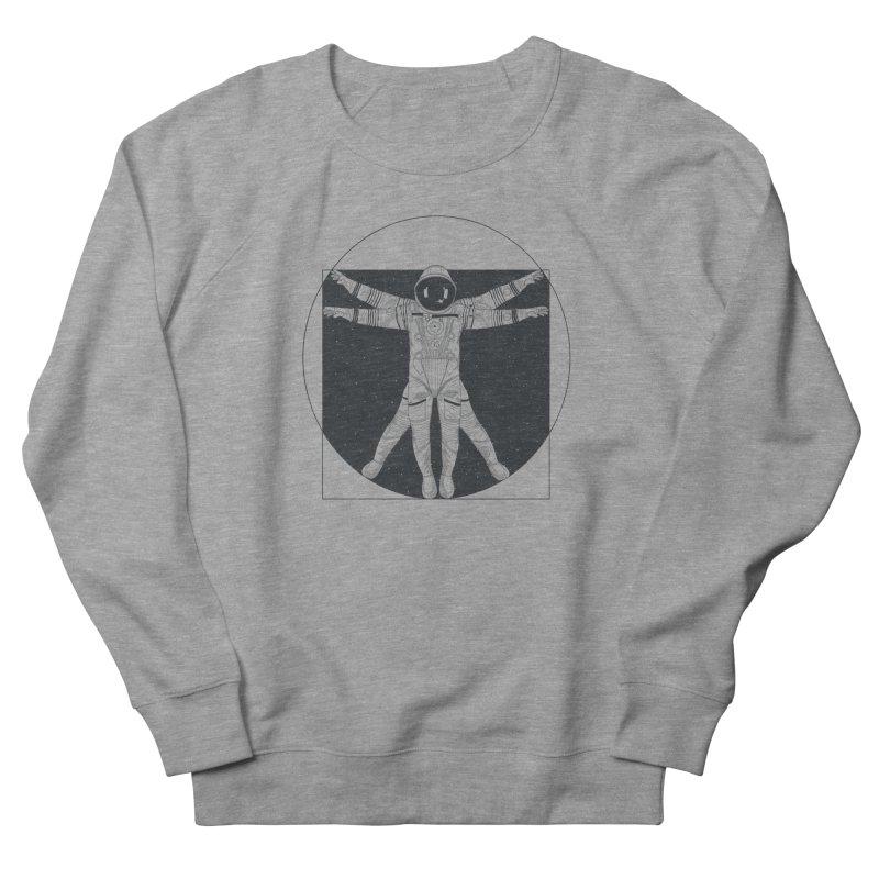 Vitruvian Spaceman (Dark Ink) Men's Sweatshirt by 84collective