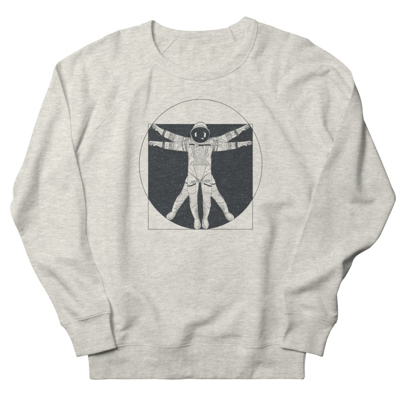 Vitruvian Spaceman (Dark Ink) Men's Sweatshirt by 84collective