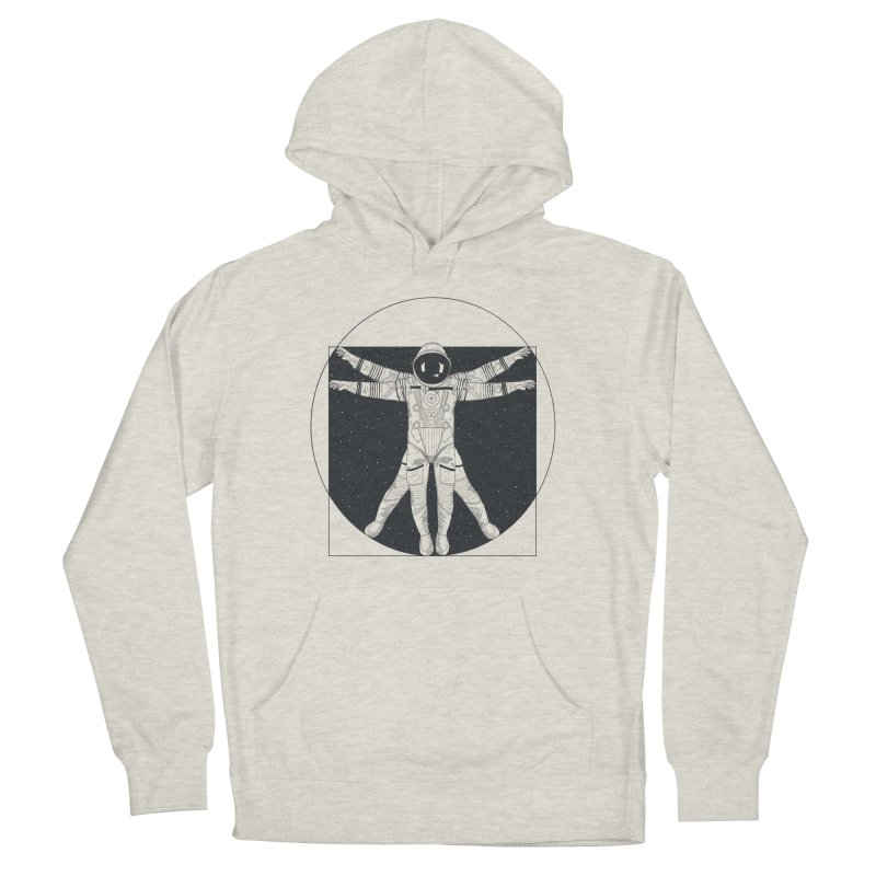 Vitruvian Spaceman (Dark Ink) Men's Pullover Hoody by 84collective