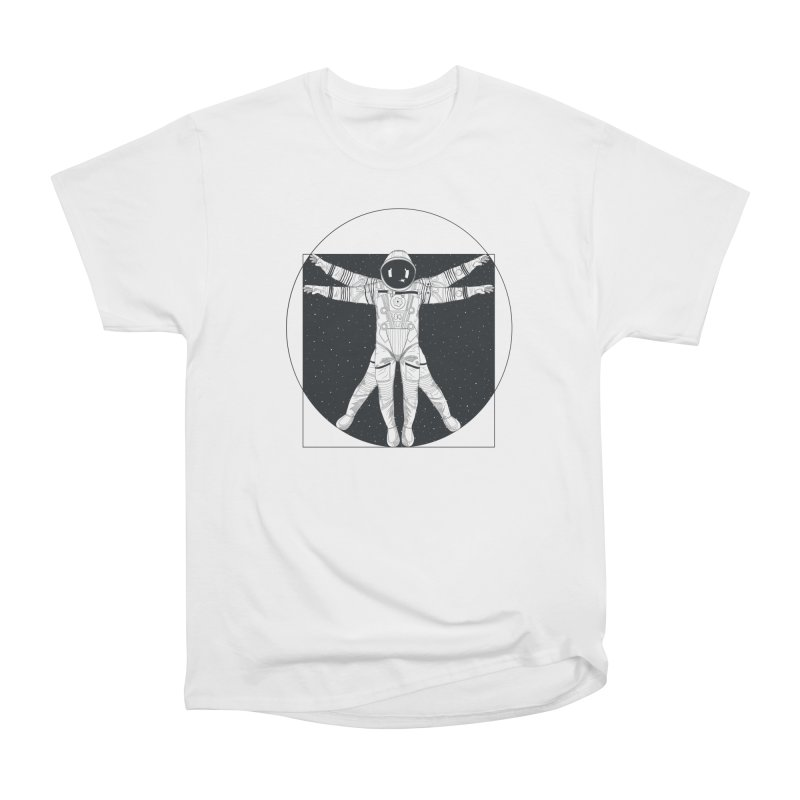 Vitruvian Spaceman (Dark Ink) Men's Heavyweight T-Shirt by 84collective