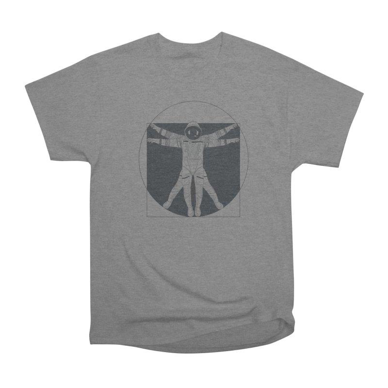 Vitruvian Spaceman (Dark Ink) Men's Heavyweight T-Shirt by 84collective