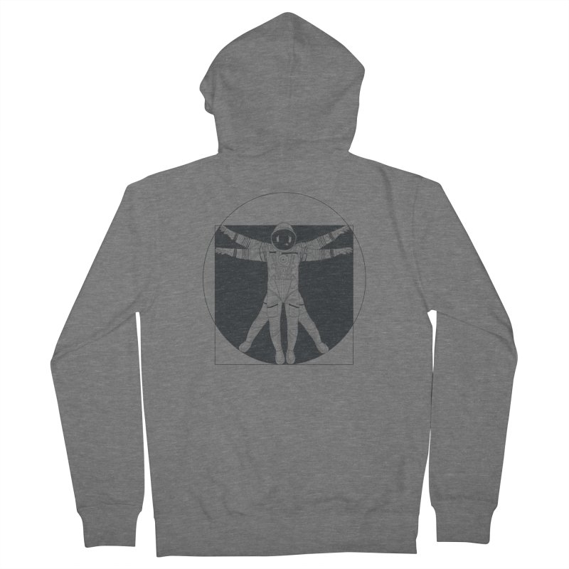 Vitruvian Spaceman (Dark Ink) Women's Zip-Up Hoody by 84collective