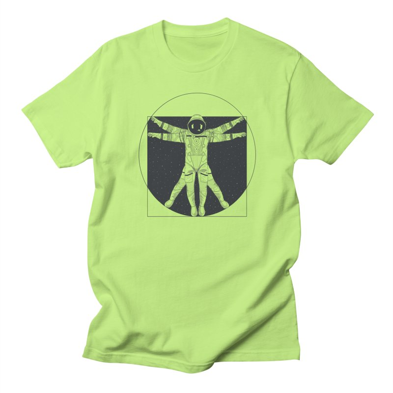 Vitruvian Spaceman (Dark Ink) Men's Regular T-Shirt by 84collective