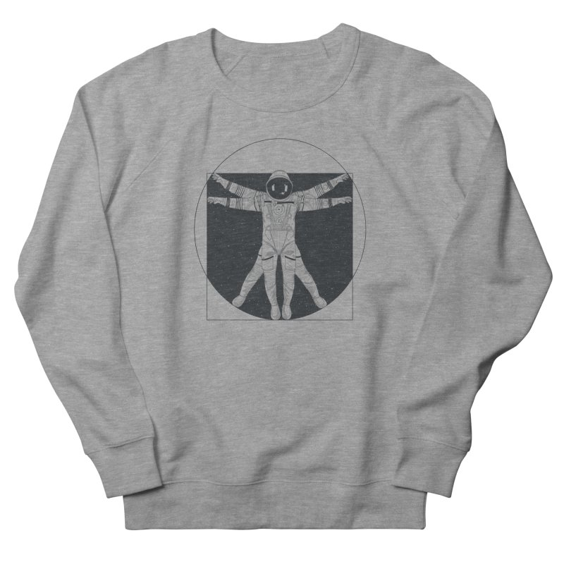 Vitruvian Spaceman (Dark Ink) Women's French Terry Sweatshirt by 84collective
