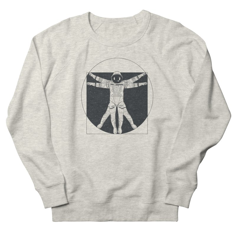 Vitruvian Spaceman (Dark Ink) Men's French Terry Sweatshirt by 84collective