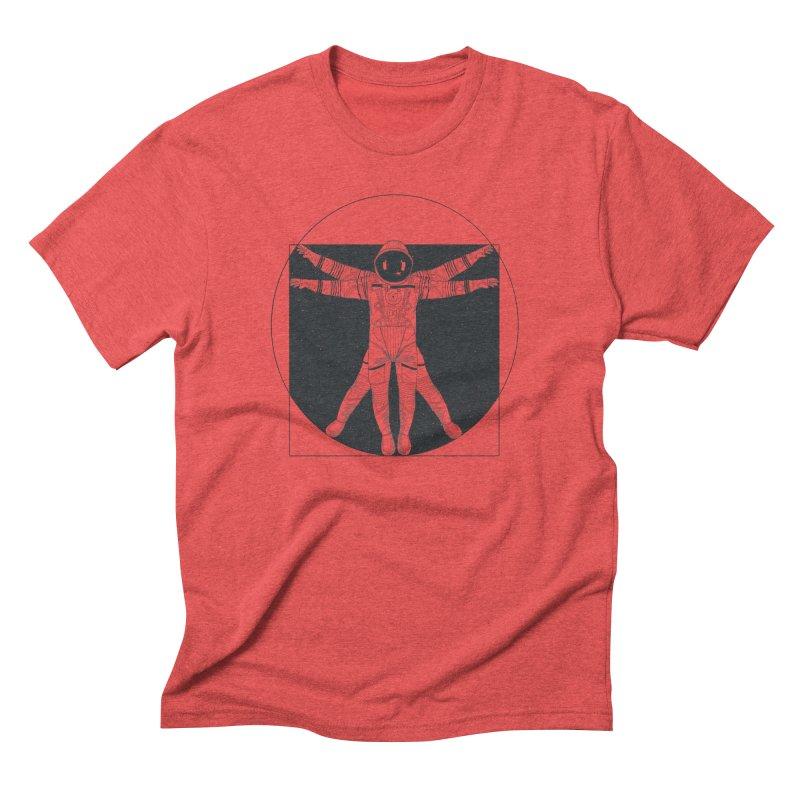 Vitruvian Spaceman (Dark Ink) Men's Triblend T-Shirt by 84collective